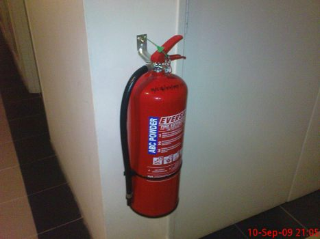 Fire Extinguisher outside Riser Room