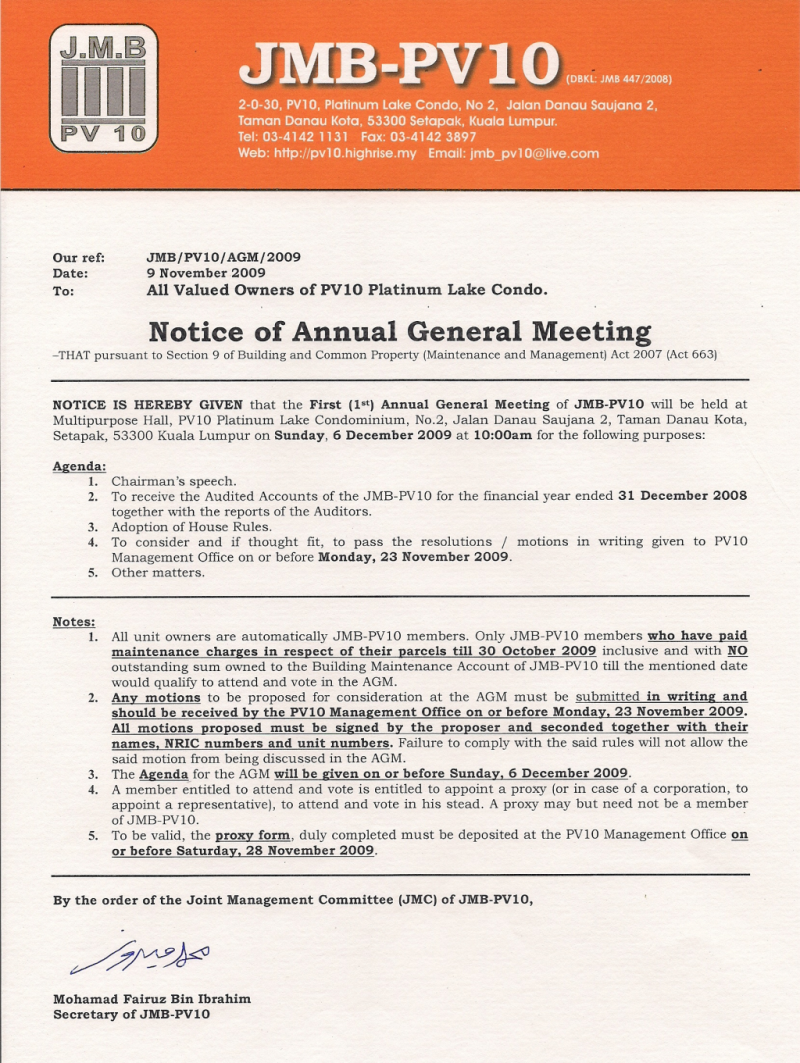 notice of an annual general meeting Notice of annual or general meeting for an unincorporated association - create your template with a simple form.