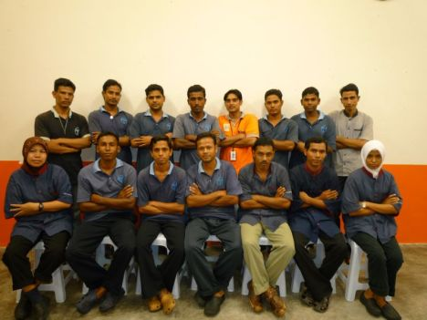 Team from Tenaga Bersih Sdn Bhd